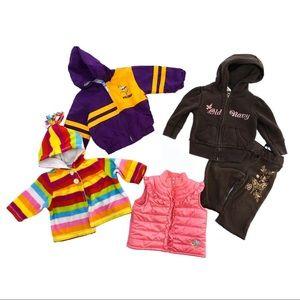 Baby Girls Old Navy Vikings 4 Jackets Lot 3-6 6-12